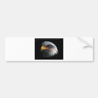 Patriotic Eagle with flag background Bumper Sticker