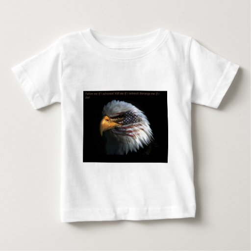 Patriotic Eagle with flag background Shirts