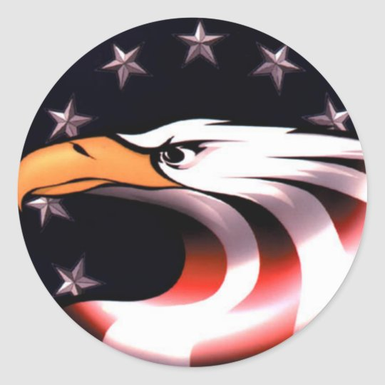 Patriotic Eagle With Stars And Stripes Stickers