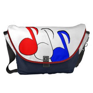 Patriotic Eighth Note Messenger Bag