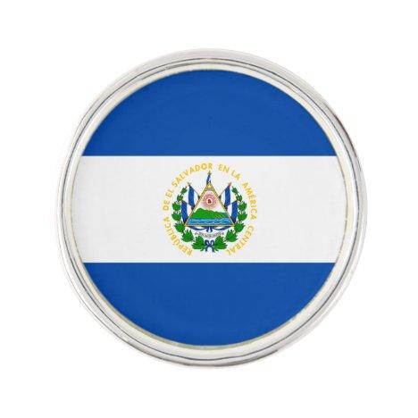 Patriotic El Salvador Flag Lapel Pin