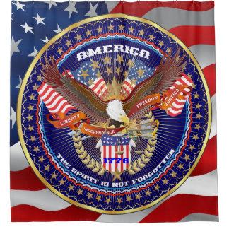 Patriotic Election View About Design Shower Curtain
