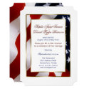 Patriotic, Elegant USA Flag Evening Wedding Invitation