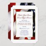 Patriotic, Elegant USA Flag Evening Wedding Invitation