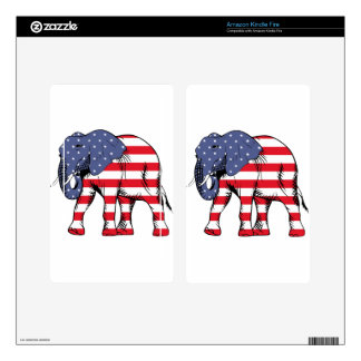 Patriotic Elephant Kindle Fire Decal