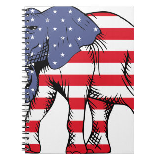 Patriotic Elephant Notebook