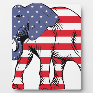 Patriotic Elephant Plaque