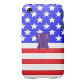 Patriotic elephant purple iPhone 3 cover