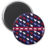 Patriotic Elephants Magnet