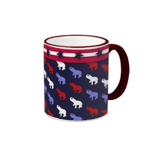 Patriotic Elephants Mug