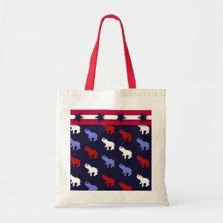 Patriotic Elephants Tote Bag