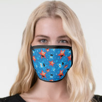 Patriotic Elmo and Cookie Monster Pattern Face Mask
