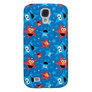 Patriotic Elmo and Cookie Monster Pattern Galaxy S4 Cover