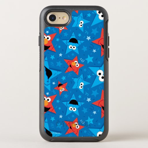 Patriotic Elmo and Cookie Monster Pattern OtterBox Symmetry iPhone SE/8/7 Case