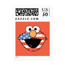 Patriotic Elmo - Distressed Postage