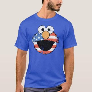 Patriotic Elmo - Distressed T-Shirt