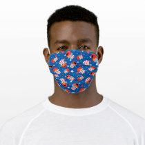 Patriotic Elmo Pattern Adult Cloth Face Mask