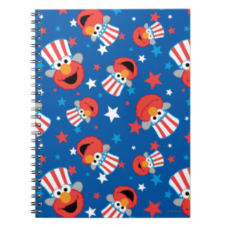 Patriotic Elmo Pattern Spiral Notebook