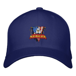 Patriotic Embroidery Embroidered Baseball Cap
