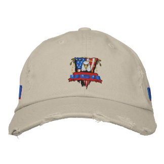 Patriotic Embroidery Embroidered Baseball Hat