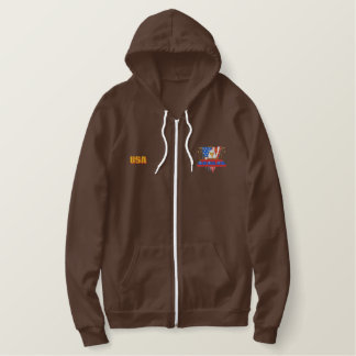 Patriotic Embroidery Embroidered Hoodie