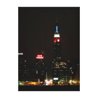 Patriotic Empire State Building Gallery Wrapped Canvas