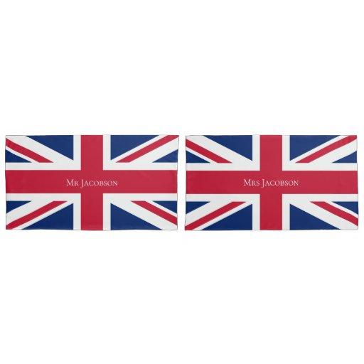 Patriotic English Flag Custom Union Jack British Pillow Case