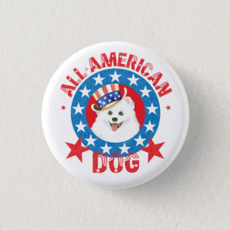 Patriotic Eskie Pinback Button