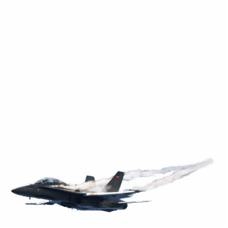 Patriotic F A-18 Hornet Jet-Fighter Magnet Cut Out
