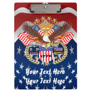 Patriotic Family or Veteran View About Design Clipboard