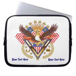Patriotic Family or Veteran View About Design Computer Sleeve