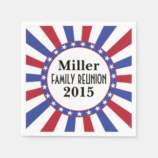 Patriotic Family Reunion Paper Napkin