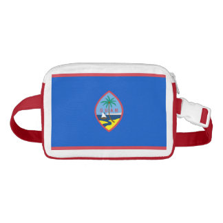 Patriotic Fanny Pack with Flag of Guam USA.