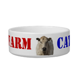 Patriotic Farm Cat - Western Bowl