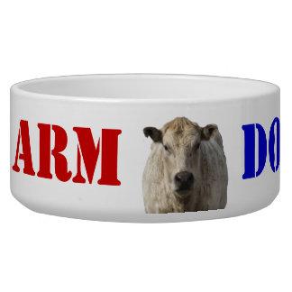Patriotic Farm Dog - Western Bowl