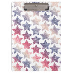Patriotic Faux Glitter Stars Clipboard