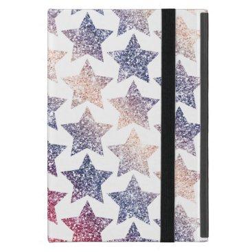 USA Themed Patriotic Faux Glitter Stars Cover For iPad Mini
