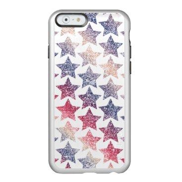 USA Themed Patriotic Faux Glitter Stars Incipio Feather Shine iPhone 6 Case