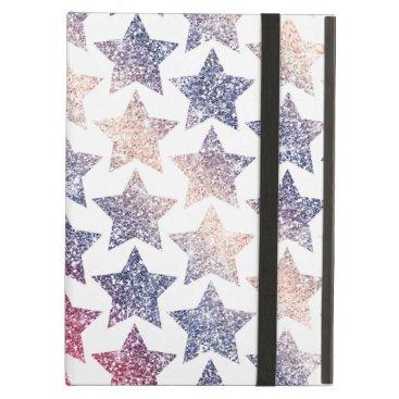 USA Themed Patriotic Faux Glitter Stars iPad Air Case
