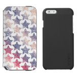Patriotic Faux Glitter Stars iPhone 6/6s Wallet Case