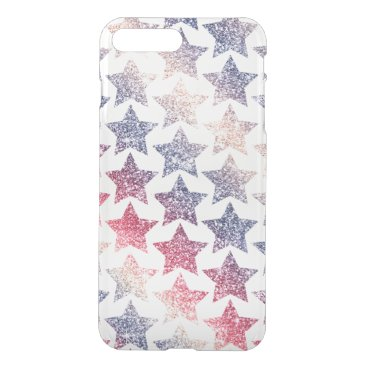 USA Themed Patriotic Faux Glitter Stars iPhone 7 Plus Case