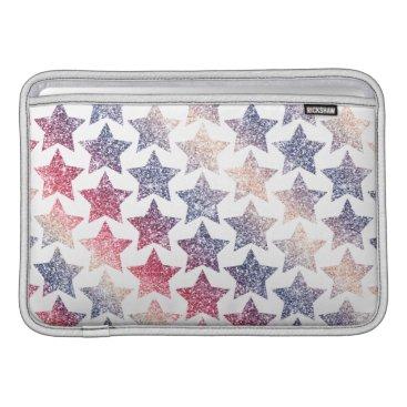 USA Themed Patriotic Faux Glitter Stars MacBook Air Sleeve