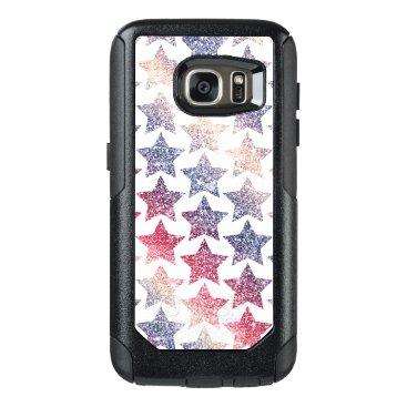 USA Themed Patriotic Faux Glitter Stars OtterBox Samsung Galaxy S7 Case