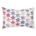 Patriotic Faux Glitter Stars Pet Bed