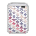 Patriotic Faux Glitter Stars Sleeve For iPad Mini