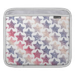 Patriotic Faux Glitter Stars Sleeve For iPads