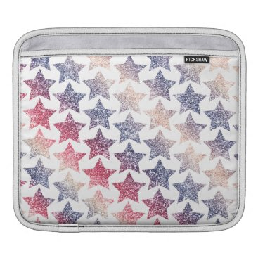 USA Themed Patriotic Faux Glitter Stars Sleeve For iPads