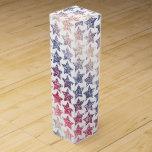 Patriotic Faux Glitter Stars Wine Gift Box