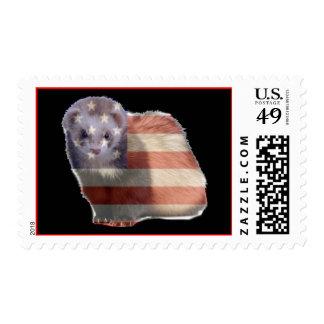 patriotic ferret postage stamp