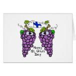 Patriotic Finnish Grapes St. Urho's Card